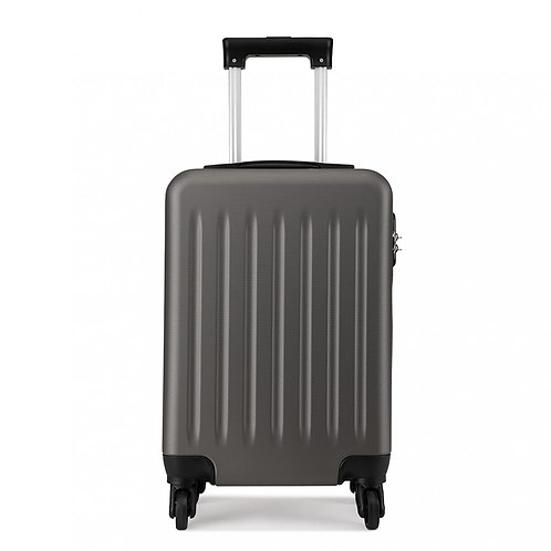 Grey Wheeled Mini Suitcase