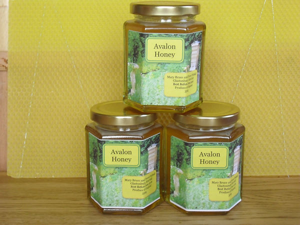 Avalon honey is for sale at the door when available