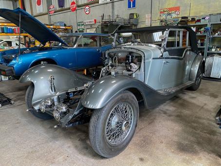 Derby Bentley in for engine installation