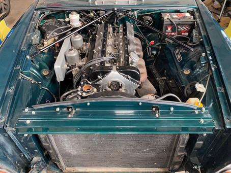Jaguar XJ6 engine back in the car
