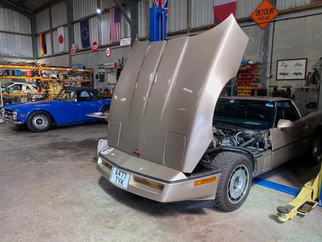 Corvette C4 back in the workshop