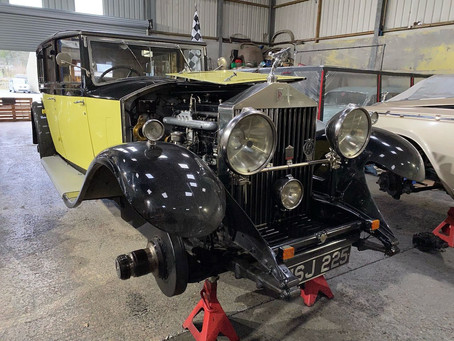 Rolls-Royce Phantom II in the workshop
