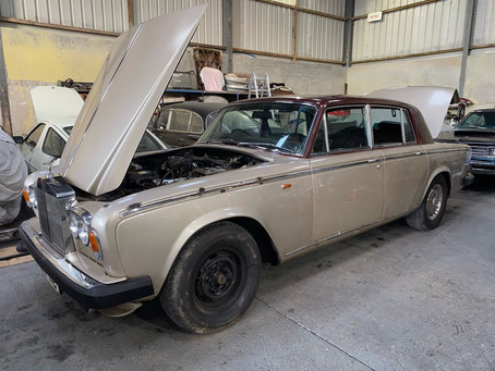 Rolls-Royce Silver Shadow II in the workshop