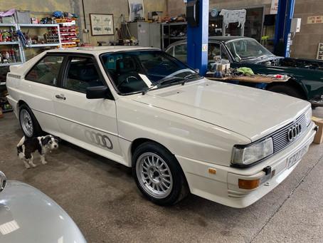Audi Quattro in the workshop