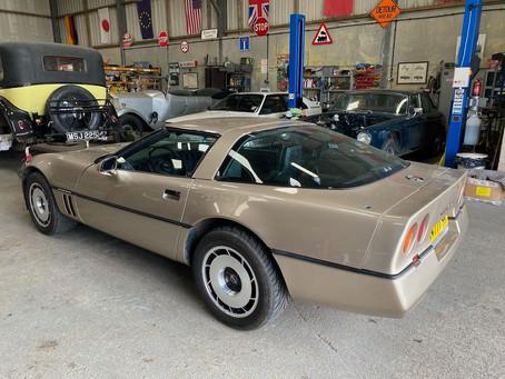 Corvette C4 in the workshop