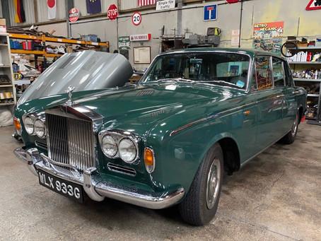 Rolls-Royce Silver Shadow in the workshop