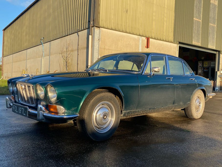 1972 Jaguar XJ6 in the workshop