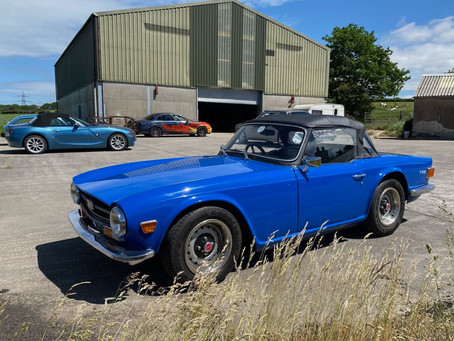 Triumph TR6 in the workshop