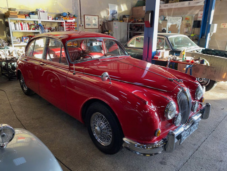 Jaguar Mk2 in the workshop