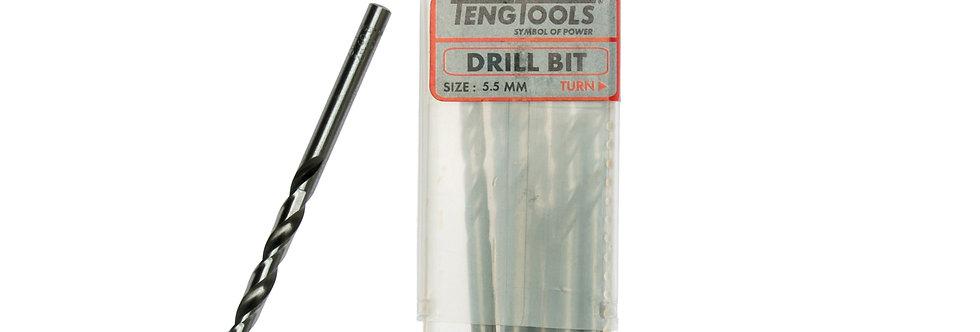 10PC 5.5MM DRILL BIT (Teng Tools)