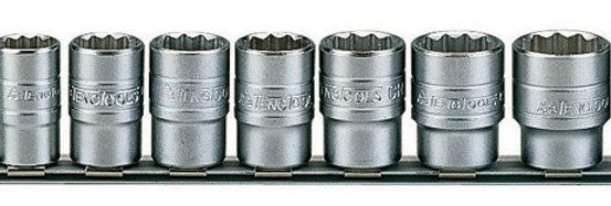 "15 PIECE 1/2"" DRIVE REGULAR CLIP RAIL (Teng Tools)"
