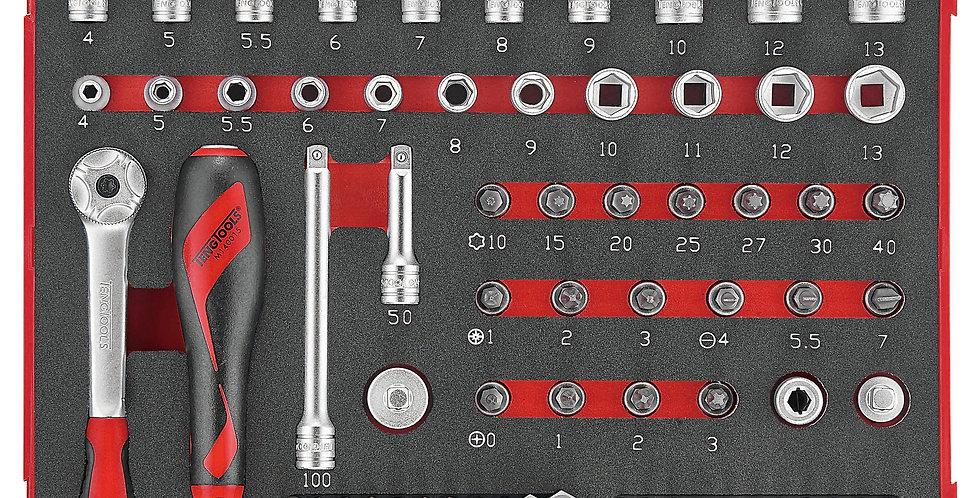 1/4 DRIVE - 89 PIECE EVA SOCKET SET (Teng Tools)