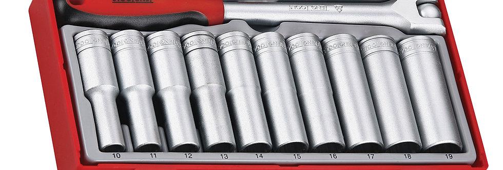 "11 PIECE 1/2"" DRIVE DEEP SOCKET SET (Teng Tools)"