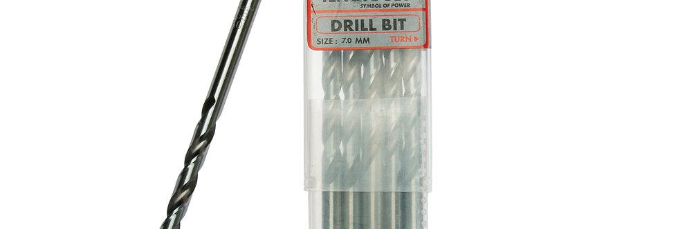 10PC 7.0MM DRILL BIT (Teng Tools)