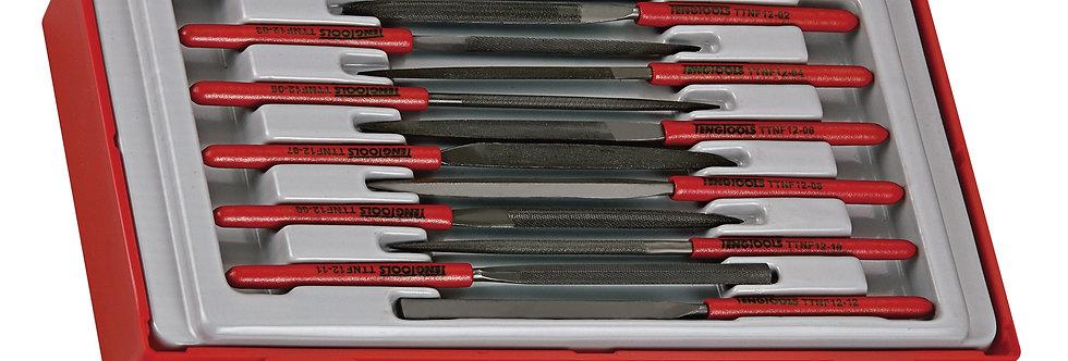 12 PIECE NEEDLE FILE SET (Teng Tools)