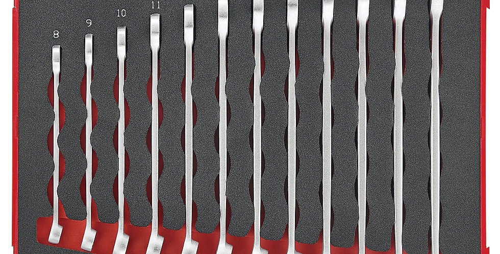 12 PIECE EVA ANTI SLIP SPANNER SET (Teng Tools)