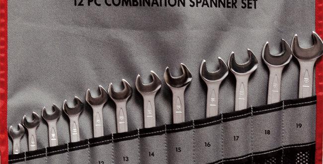 12 PIECE COMBINATION SPANNER SET (Teng Tools)