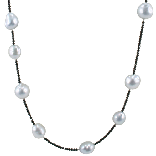 Spinel and South Sea Pearl Necklace