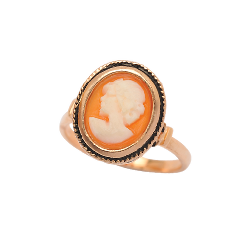 Sterling Silver & Rose Gold-Plated Cameo Ring