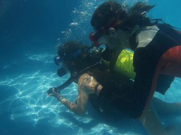 Bautismo de buceo piscina