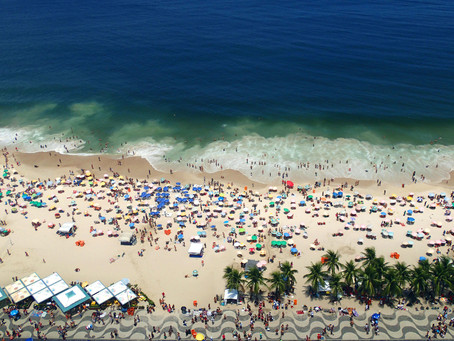 Les Cariocas à la plage