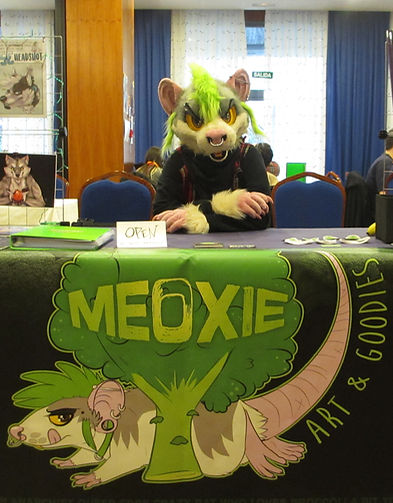 Meoxi Fursuit Dealers Den Stand Furry Convention