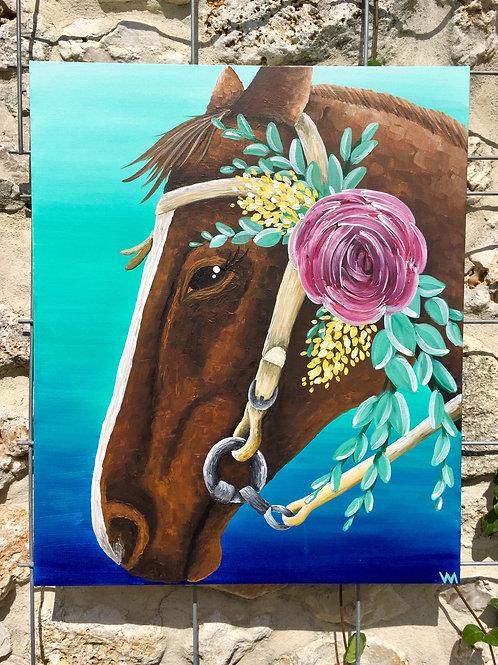 """""""Flower Haltered Horse"""""""