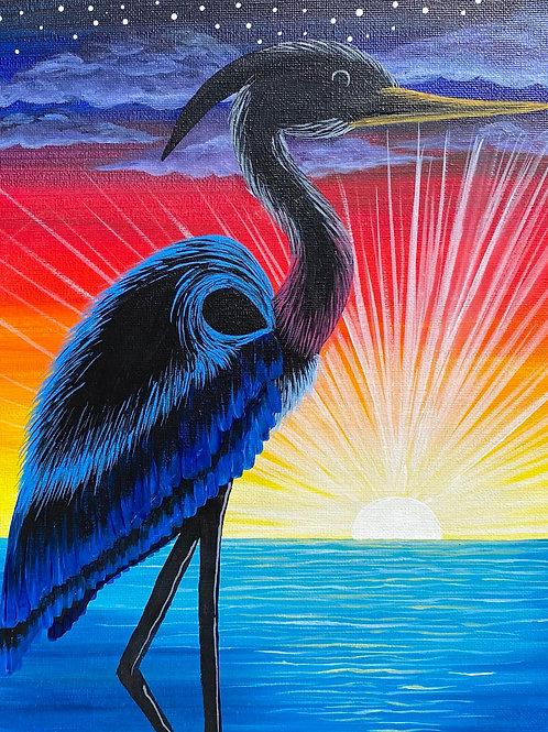 """Blue Heron Sunset"""