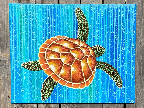 """Sea Turtle Underwater"""