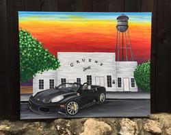 Ferrari in Gruene