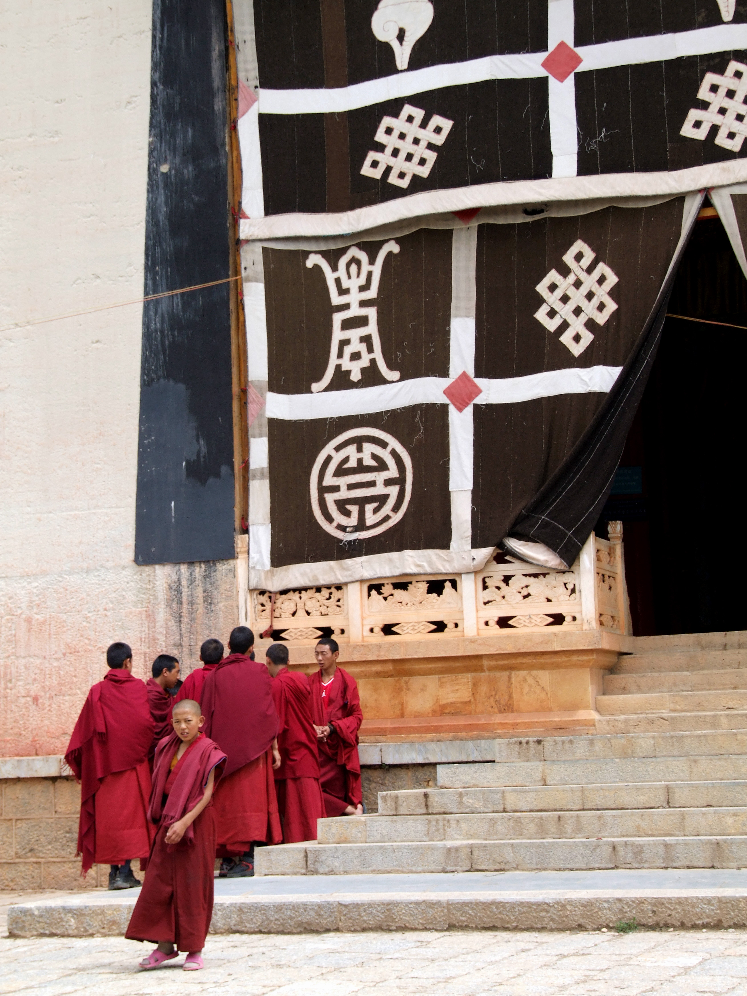 monastery monks outside 2