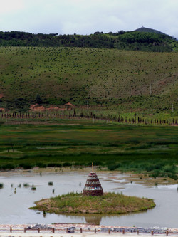 stupa pond