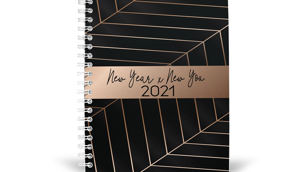 2021 New Year x New You Planner - Obsidian Black