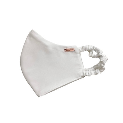 Vegan Bamboo Silk Face Mask - Satin White