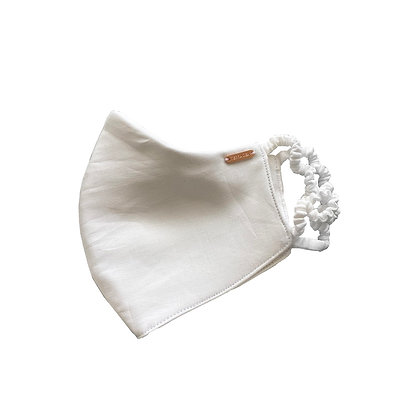 Bamboo Silk Face Mask - Natural White
