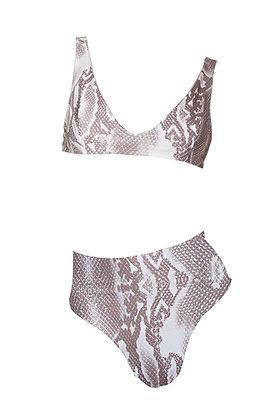 Cabana Bikini - Snake/White