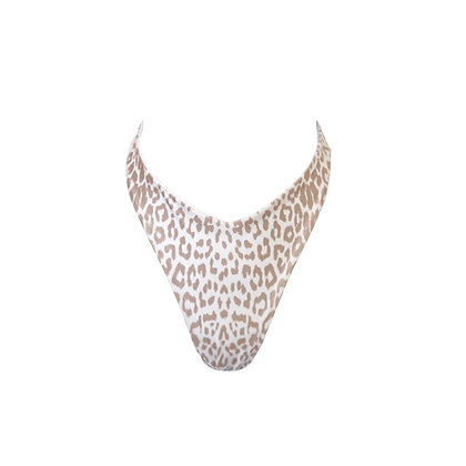 Tequila - V Cut Bikini Brief in Leopard & White