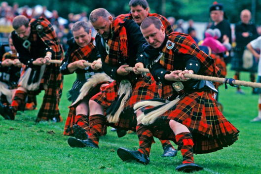 Highland games - tug o' war