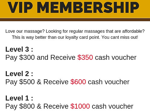 Level 2 : Pay $500 & Receive $600 Cash Voucher