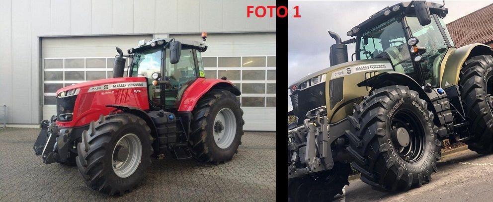 Tractor voor na