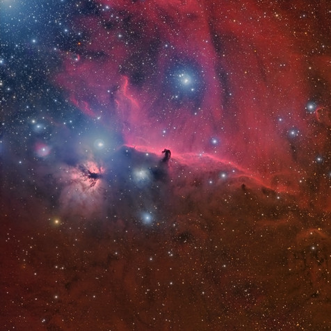 IC 434 Horse Head and Flame Nebula (Image of the day in Astrobin 11/24/2014)
