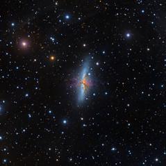 M82 La Galaxia del Cigarro
