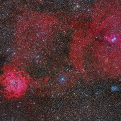 Gran Campo Rosetta, Cone and IC 447