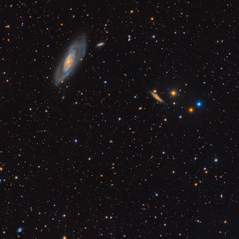 Field of M106 and NGC 4217