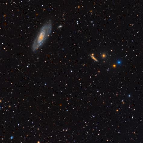 Campo de M106 y NGC 4217