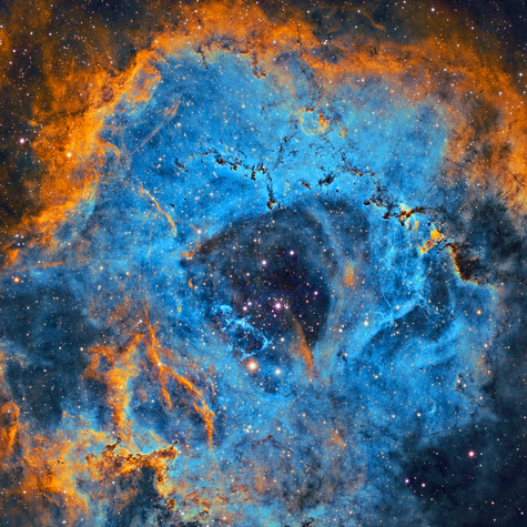 NGC 2244 Details in the Rosette Nebula