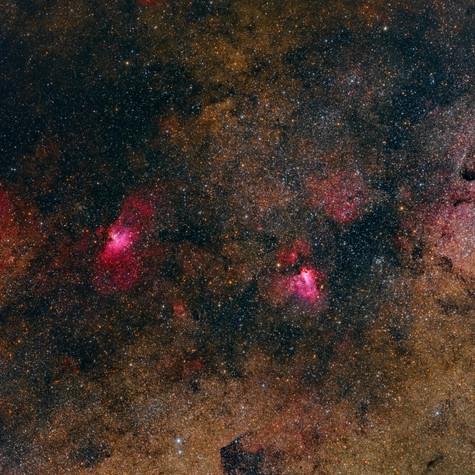 Gran Campo M16 Nebulosa del Águila y M17 Nebulosa Omega