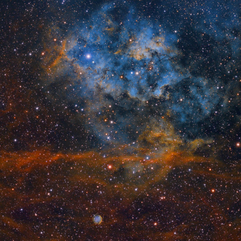 Sh2-115 & Sh2-116 Nebulosas de Emisión en el Cisne