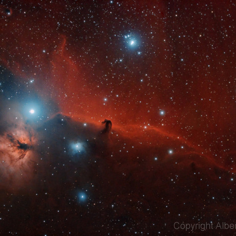 IC 434 Horse Head and Flame Nebula, from San Justo
