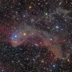 LBN 437 Polvo en la Constelación del lagarto